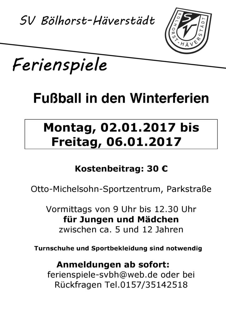 Ferienspiele Winter 2017